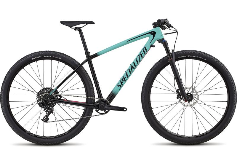 Specialized Women's Epic Hardtail Comp Carbon - 29 -  Gloss Acid Mint Fade To Tarmac Black/Acid Pink 2019