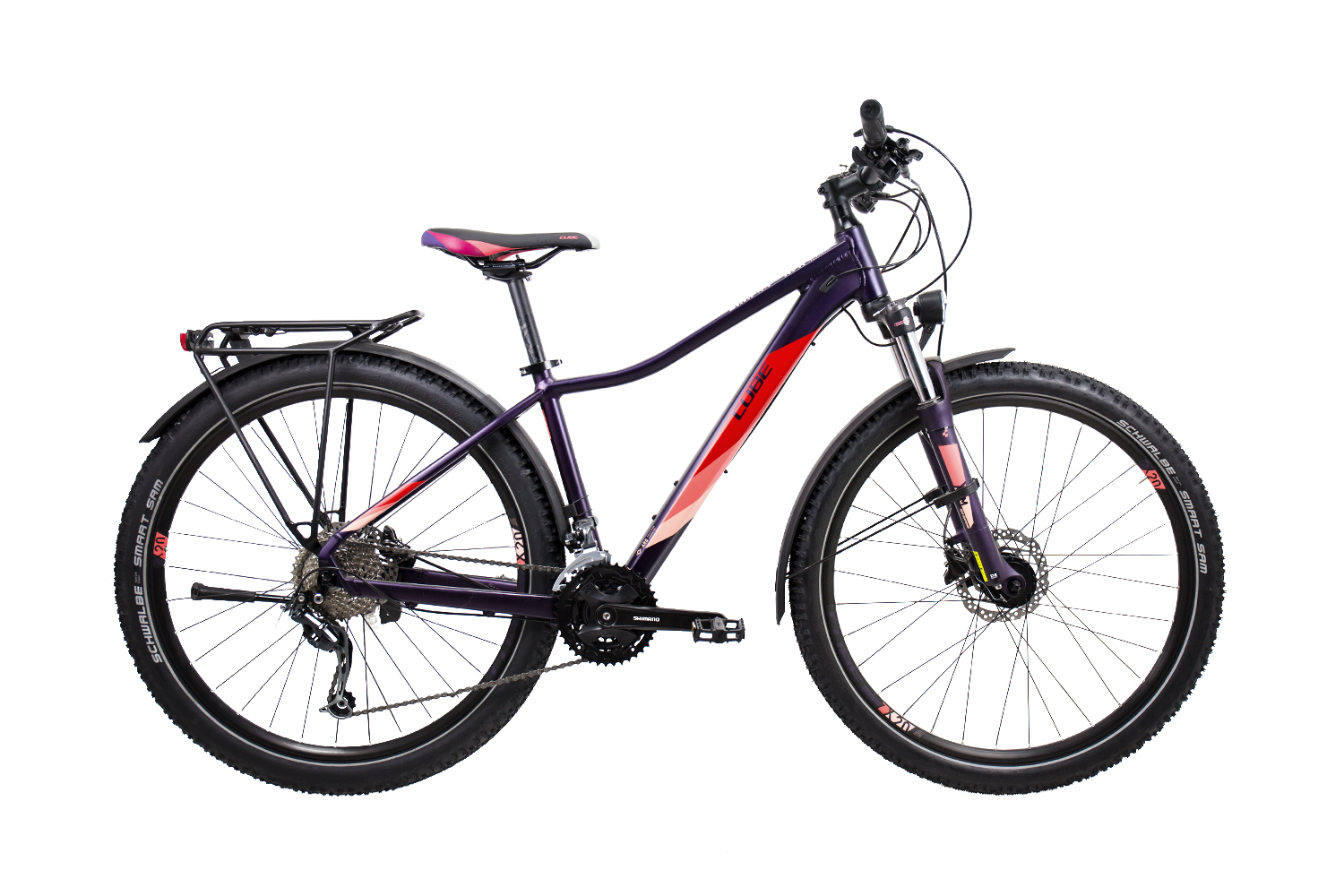 Cube Access WS Pro Allroad aubergine´n´rose