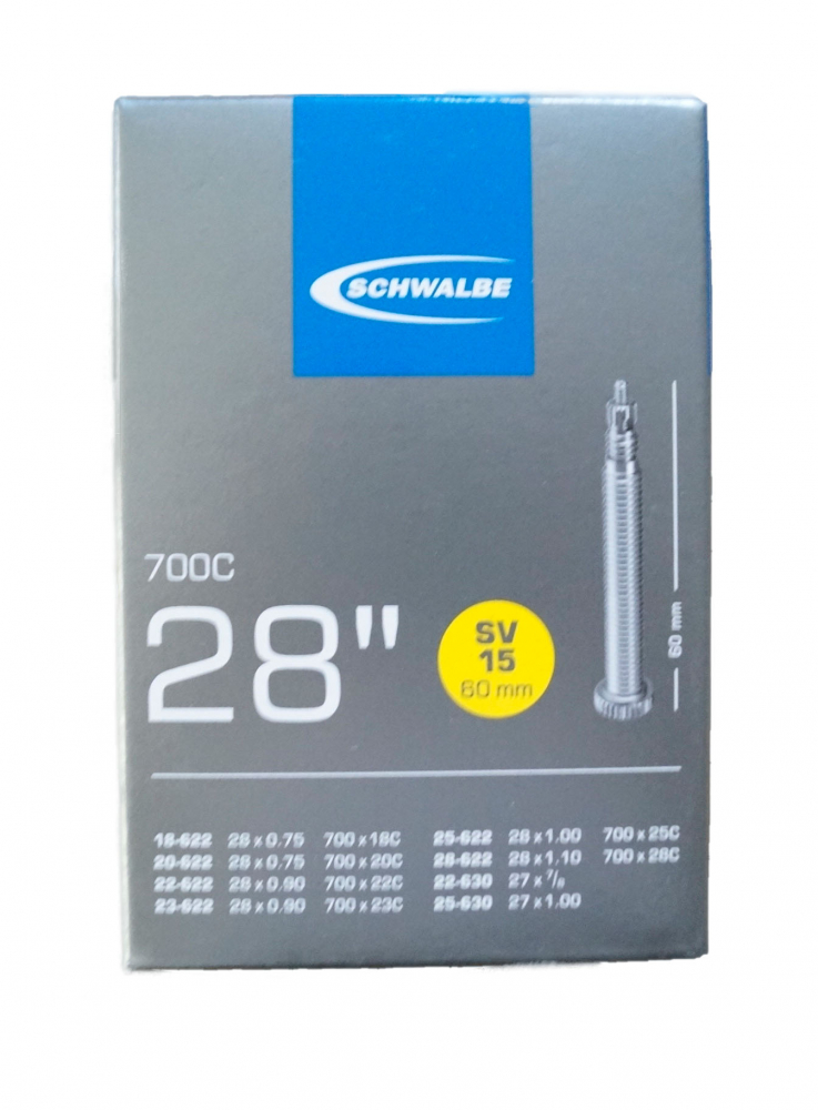 Schwalbe Schlauch SV15 extra lang (18/28-622/630) - 28 Zoll Auswahl