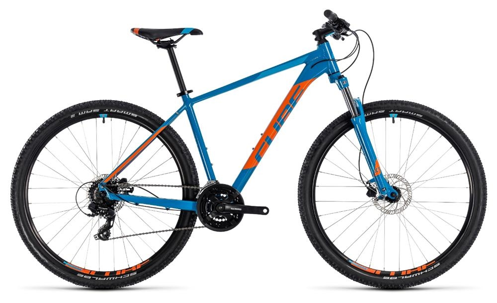 cube aim pro blue orange 29 zoll 2018 bike. Black Bedroom Furniture Sets. Home Design Ideas