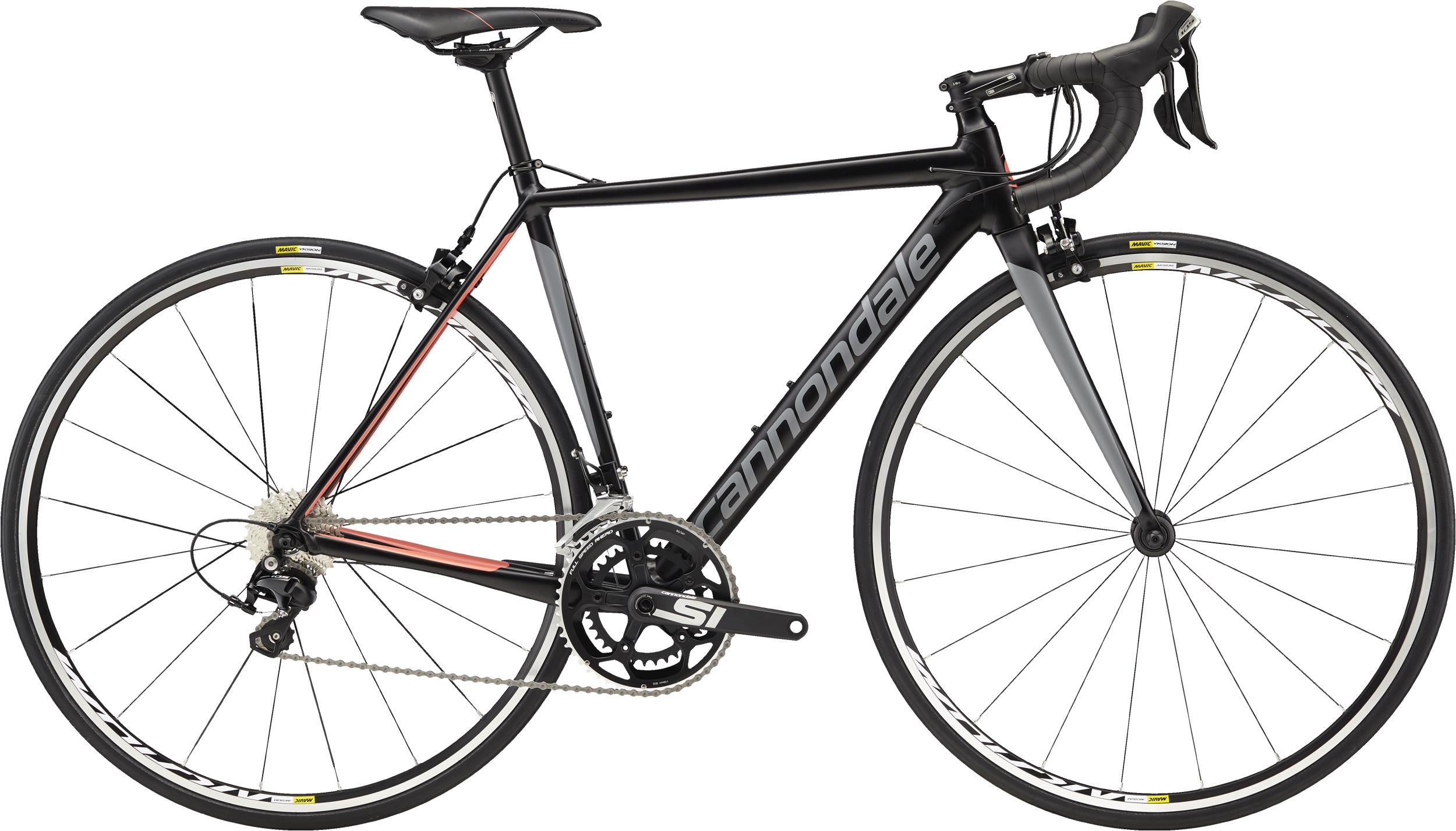 Cannondale CAAD12 Women's 105 BLK Jet Black w/Stealth Gray and Coral - Satin 2018 - 28 -