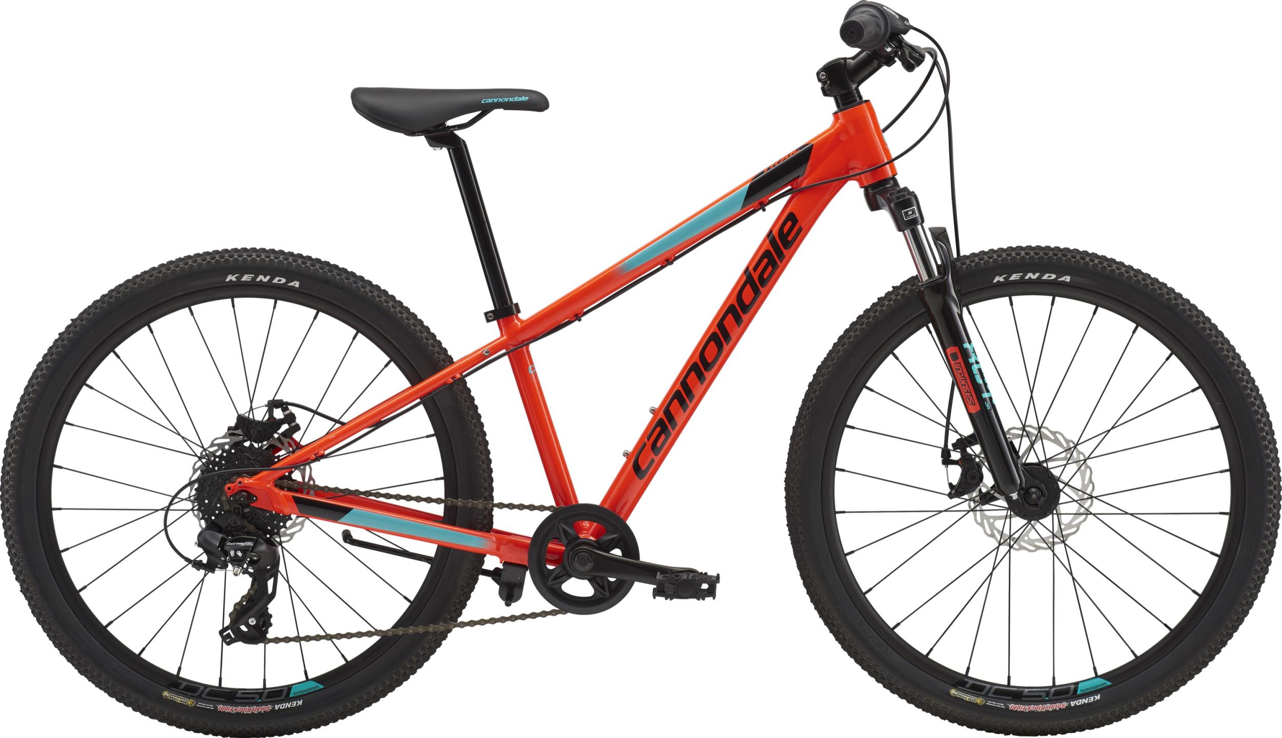 Cannondale Kids TRAIL 24 BOY'S ARD OS Acid Red w/ Jet Black and Turquoise, Gloss 2018