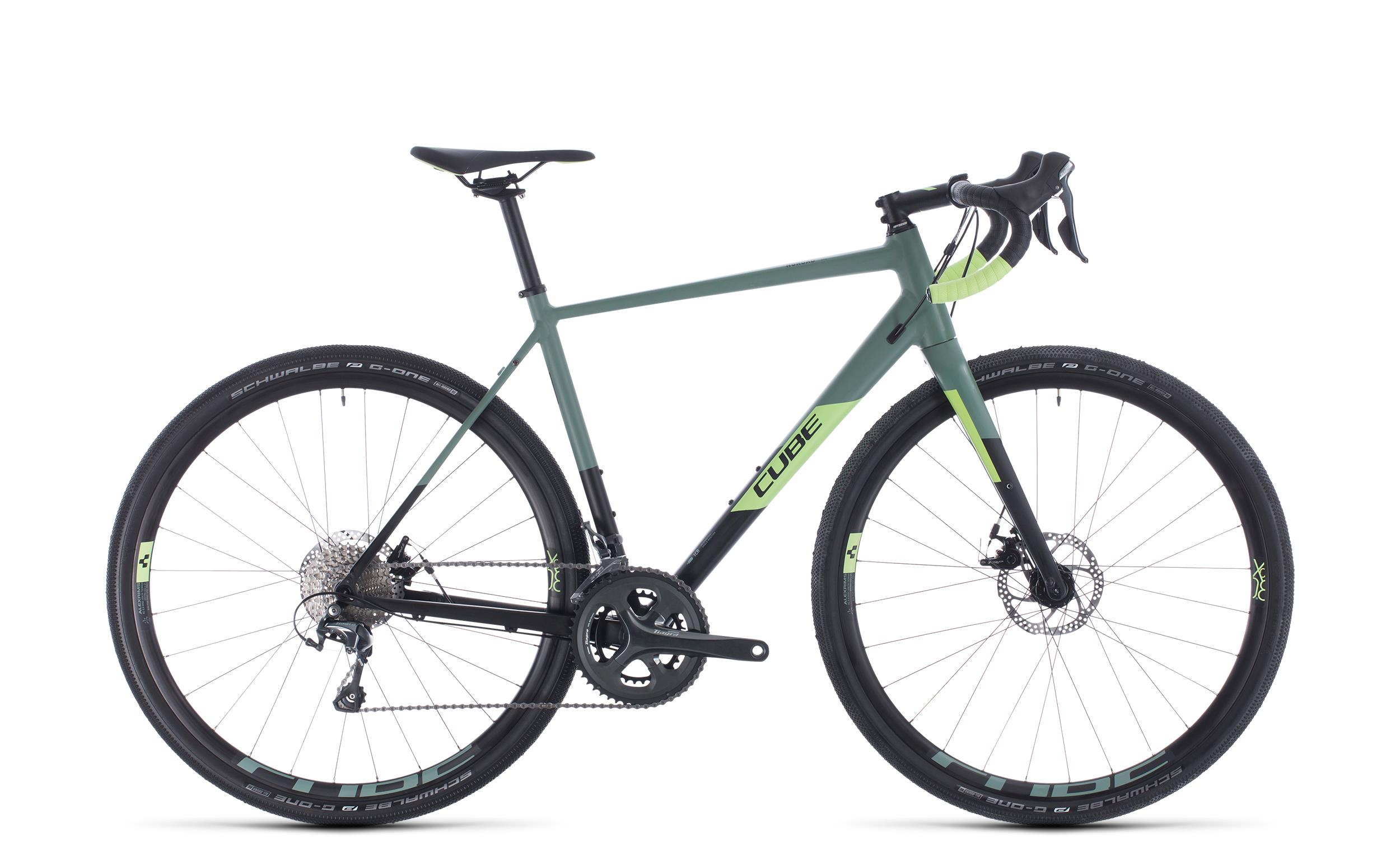 Cube Nuroad Pro black´n´sharpgreen 2020 - Diamant -  56 cm