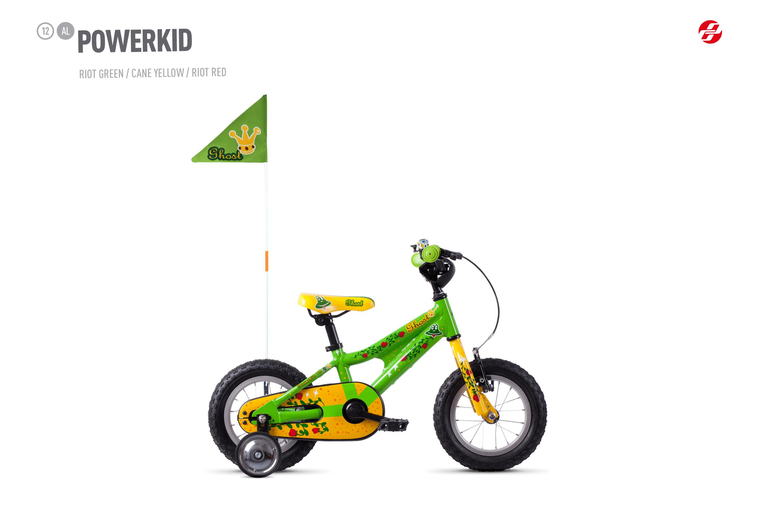 GHOST POWERKID AL 12 K - 12 -  riot green / cane yellow / riot red 2019