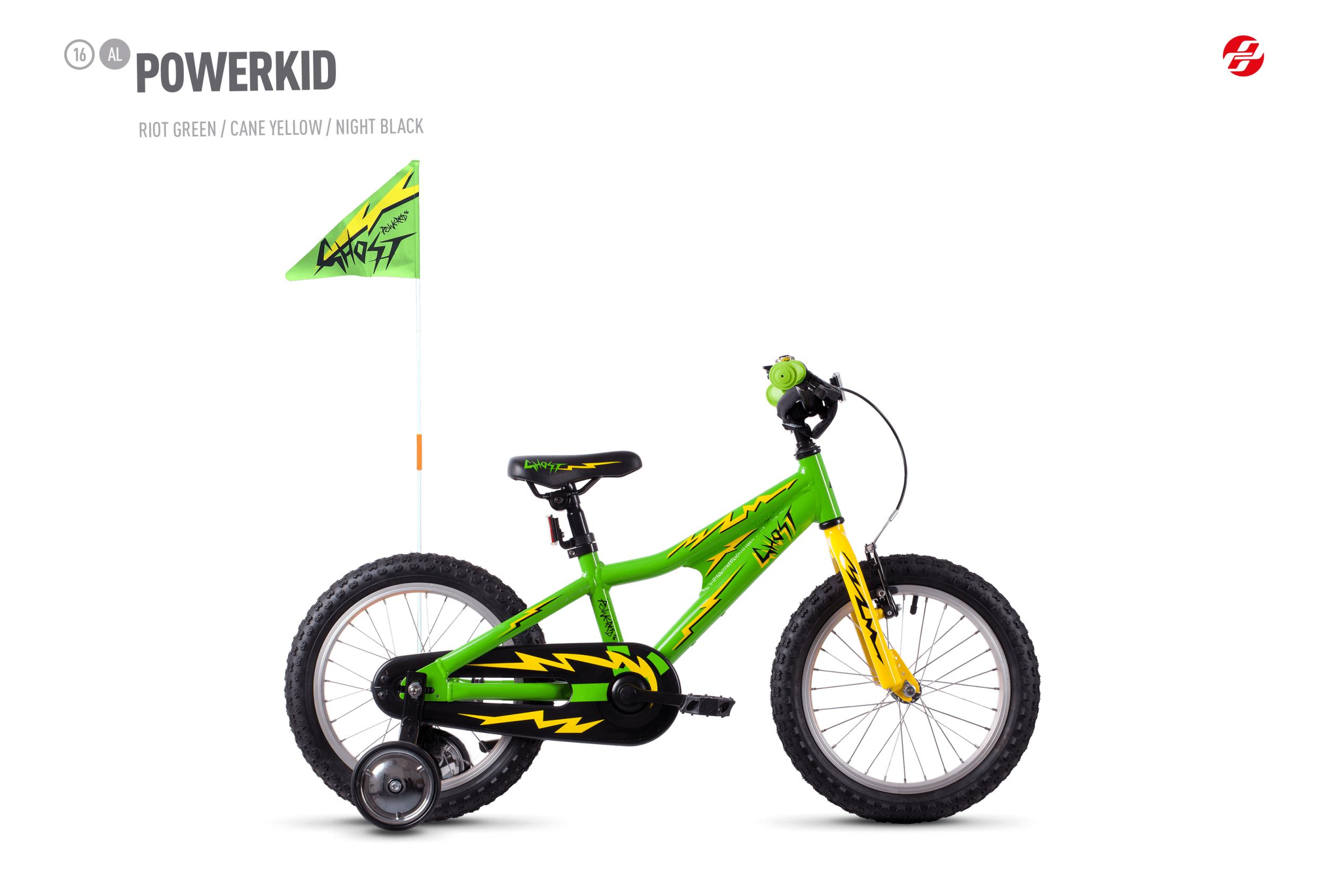 GHOST POWERKID AL 16 K - 16 -  riot green / cane yellow / night black 2019
