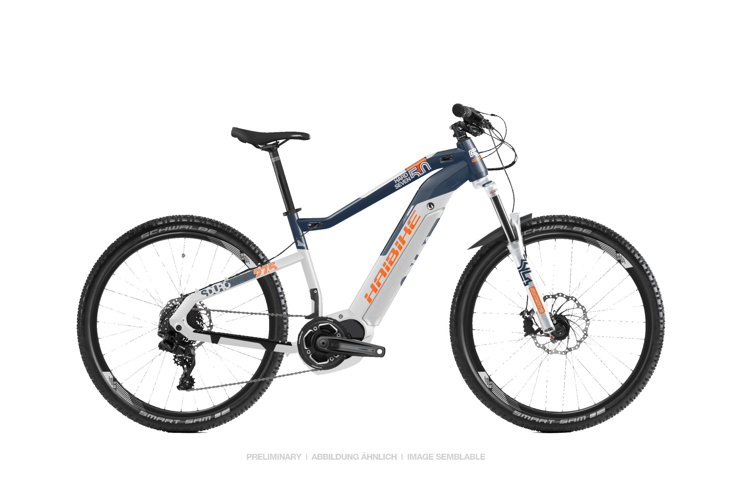 haibike sduro hardseven 5 0 blau wei orange 2019 mtb. Black Bedroom Furniture Sets. Home Design Ideas