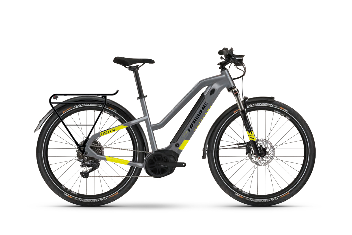 """Haibike TREKKING 6 Cool Grey / Red  2021 - 500WH 27,5"""" LOWSTANDOVER -"""