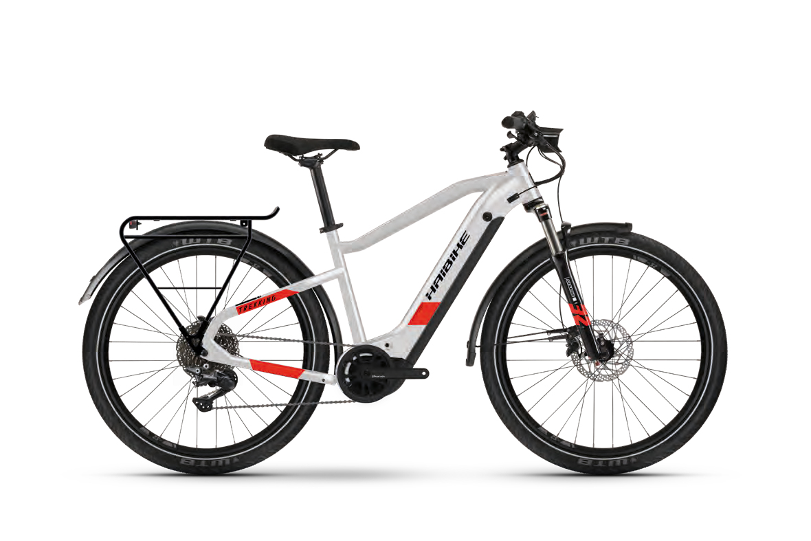 Haibike TREKKING 7 Cool Grey / Red Matte  2021 - 630Wh 27,5