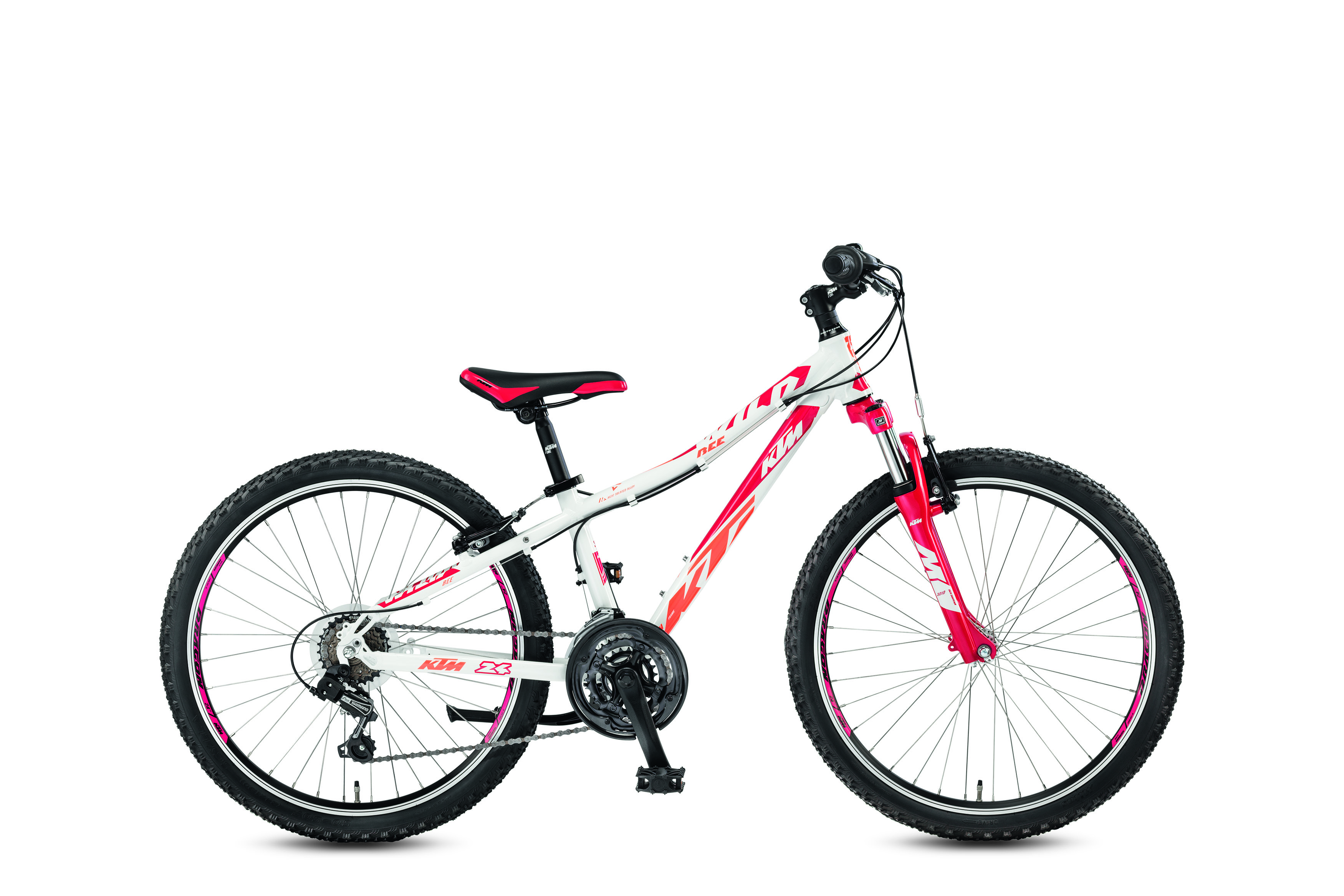 KTM WILD Bee 24.18 18s TY21 white (berry coral) 2017