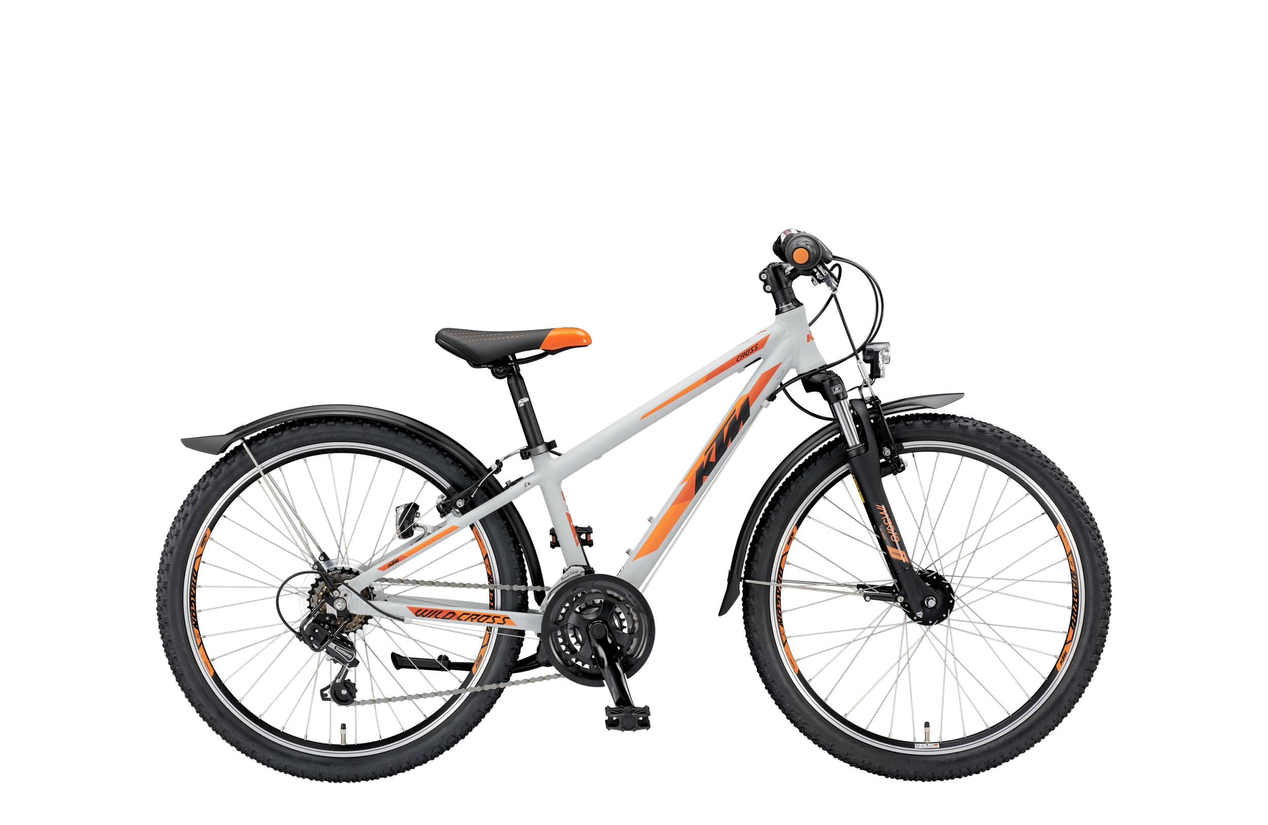 KTM WILD CROSS 24.18 STREET MTB lightgrey matt (orange black)