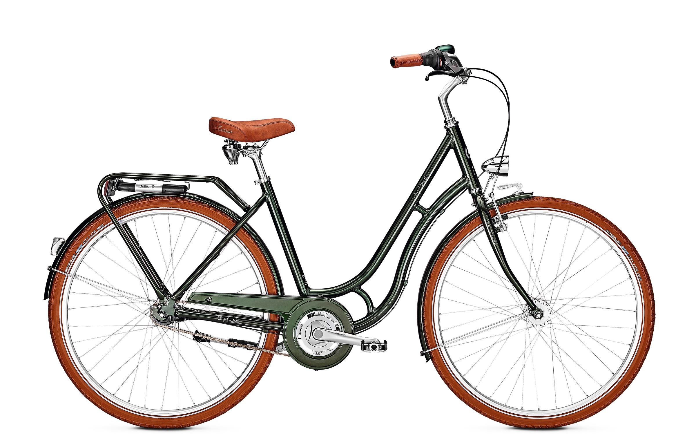 Kalkhoff CITY CLASSIC 7R - 26 Classic  Wh -  moosgreen glossy 2019