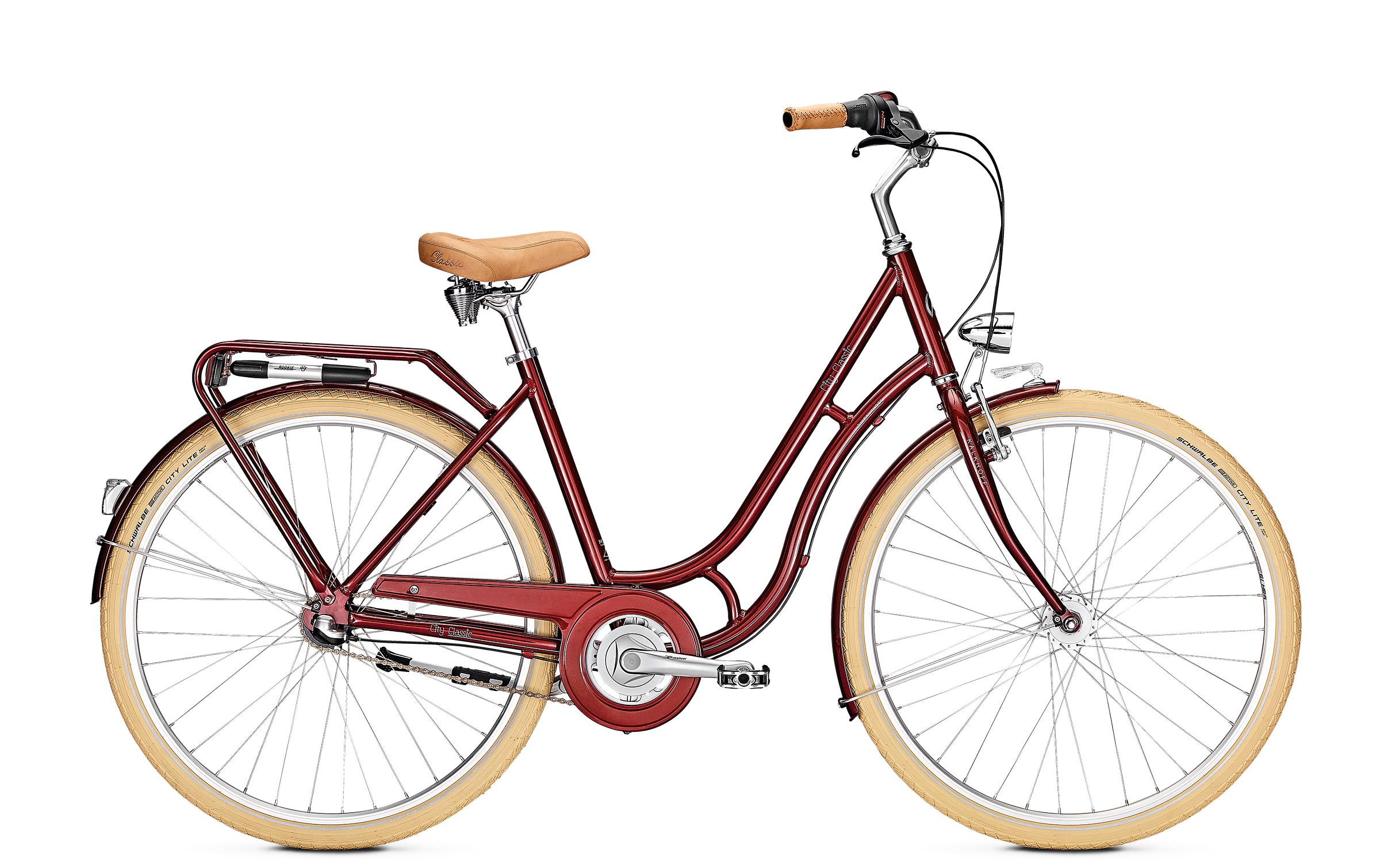 Kalkhoff CITY CLASSIC 7R - 26 Classic  Wh -  winered glossy 2019