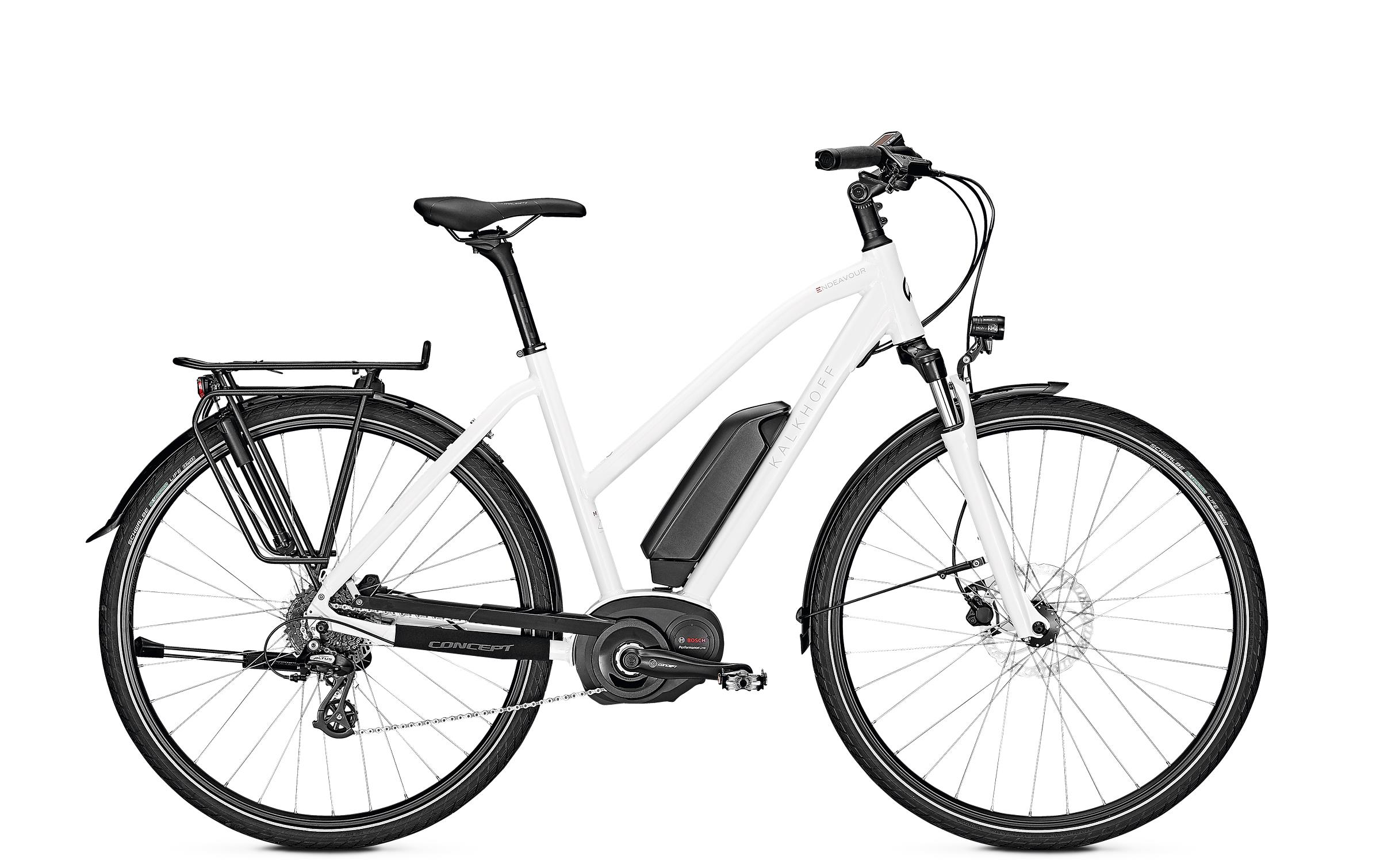 Kalkhoff ENDEAVOUR 1.B MOVE - 28 Trapez 400 Wh -  white glossy 2019