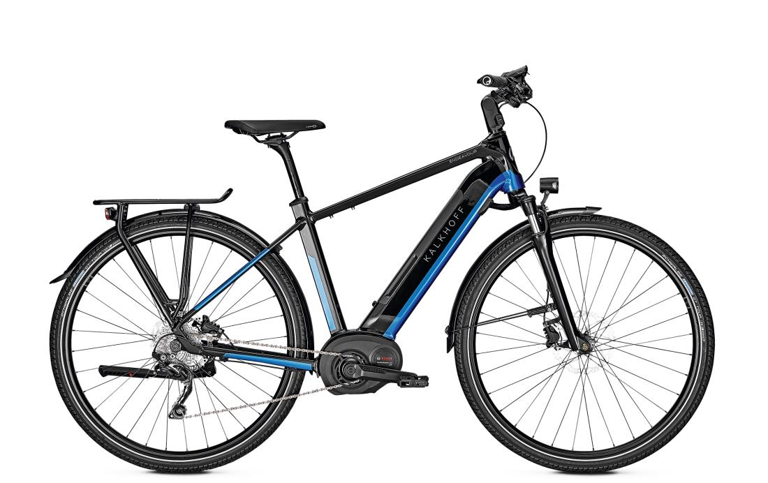 Kalkhoff ENDEAVOUR 5.B ADVANCE - 28 Diamant 482 Wh -  magicblack/pacificblue glossy 2019