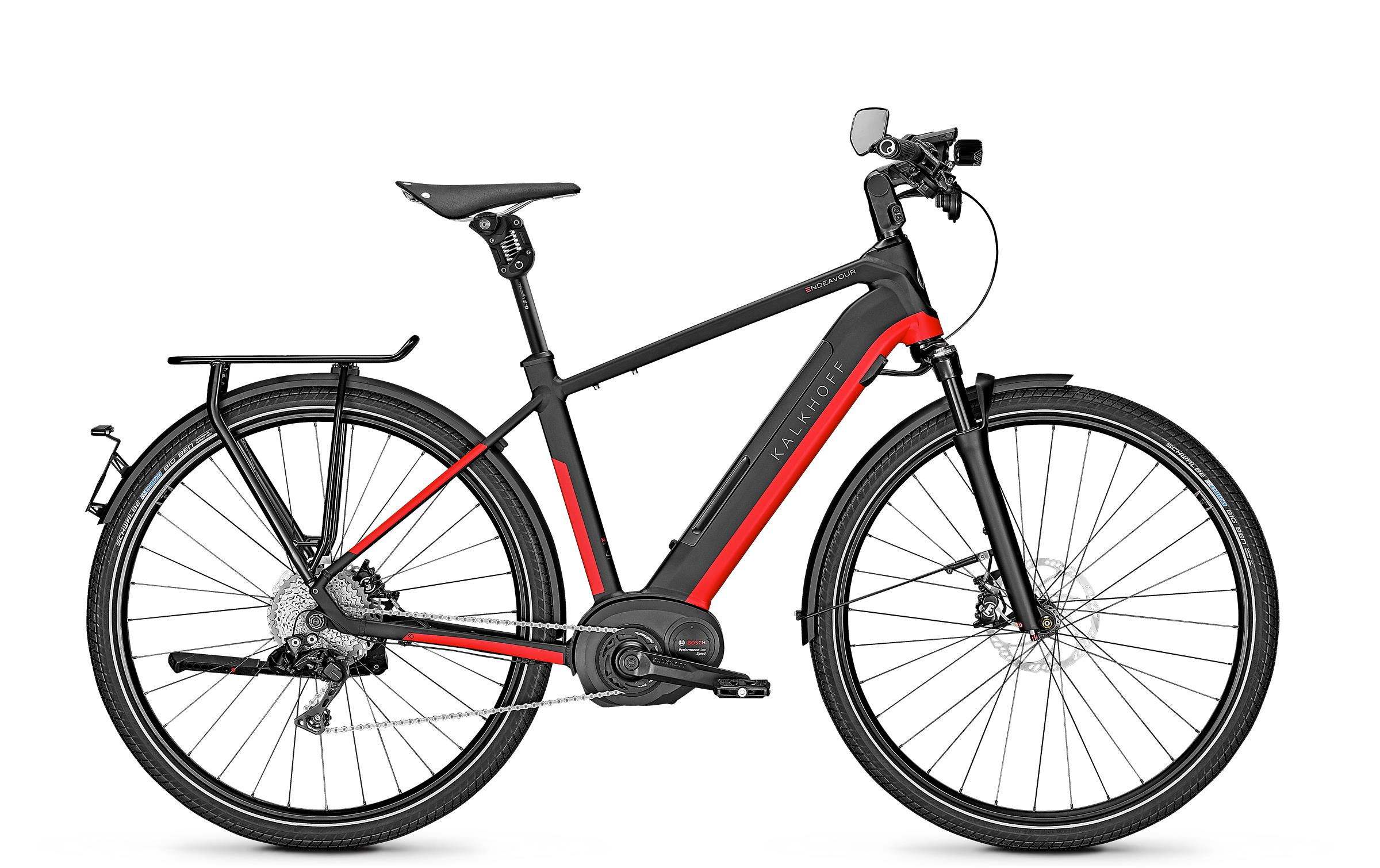 Kalkhoff ENDEAVOUR 5.B EXCITE 45 - 28 Diamant 482 Wh -  magicblack/firered glossy 2019