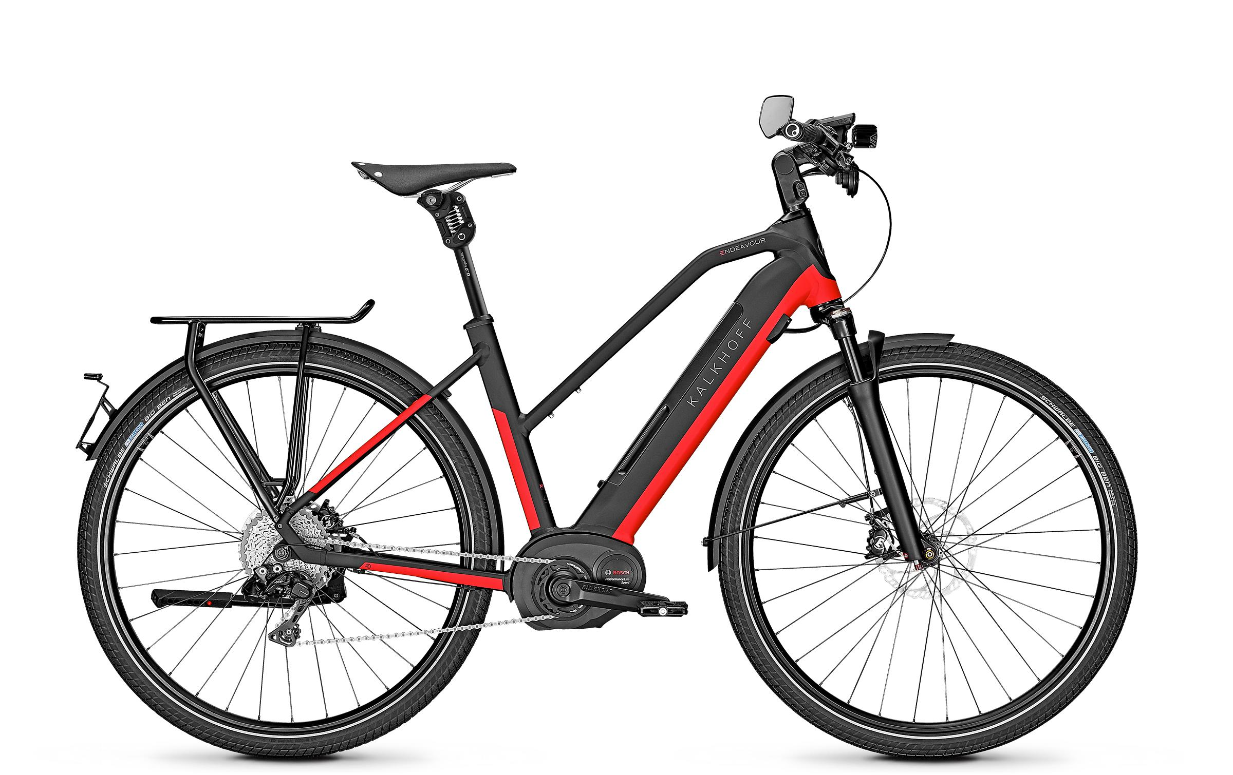 Kalkhoff ENDEAVOUR 5.B EXCITE 45 - 28 Trapez 482 Wh -  magicblack/firered glossy 2019