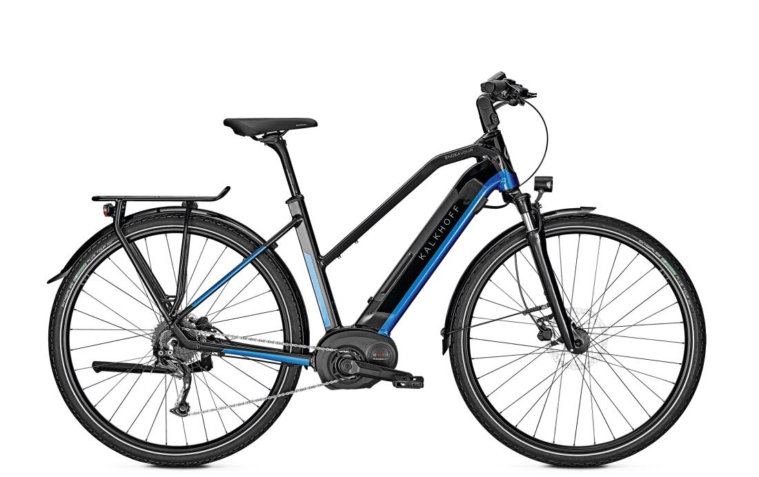 Kalkhoff ENDEAVOUR 5.B MOVE - 28 Trapez 482 Wh -  magicblack/pacificblue glossy 2019