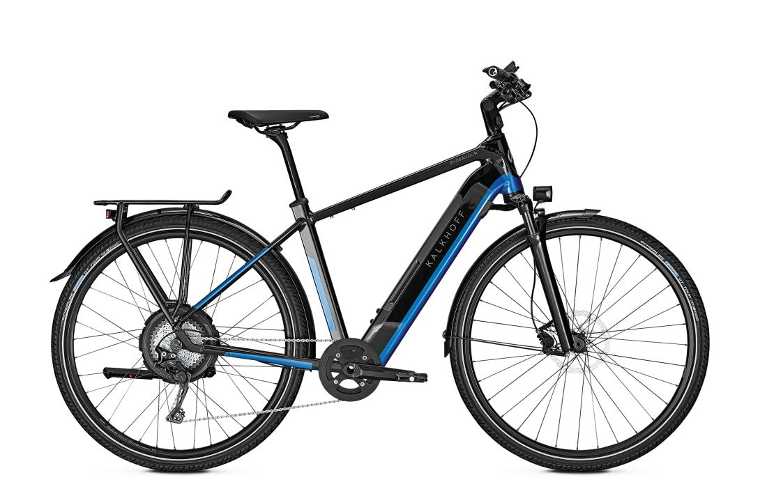 Kalkhoff ENDEAVOUR 5.N EXCITE - 28 Diamant 497 Wh -  magicblack/pacificblue glossy 2019
