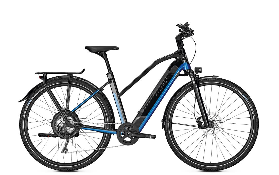 Kalkhoff ENDEAVOUR 5.N EXCITE - 28 Trapez 497 Wh -  magicblack/pacificblue glossy 2019