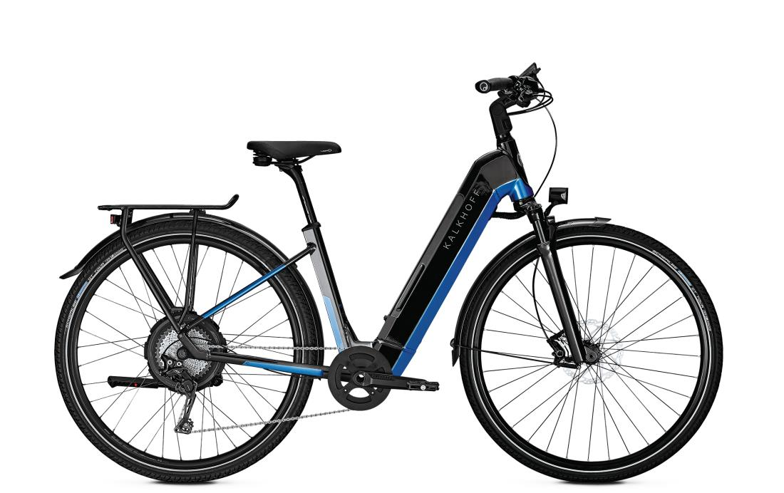 Kalkhoff ENDEAVOUR 5.N EXCITE - 28 Wave 497 Wh -  magicblack/pacificblue glossy 2019