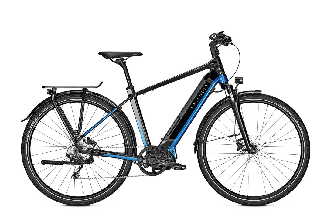 Kalkhoff ENDEAVOUR 5.S ADVANCE - 28 Diamant 540 Wh -  magicblack/pacificblue glossy 2019