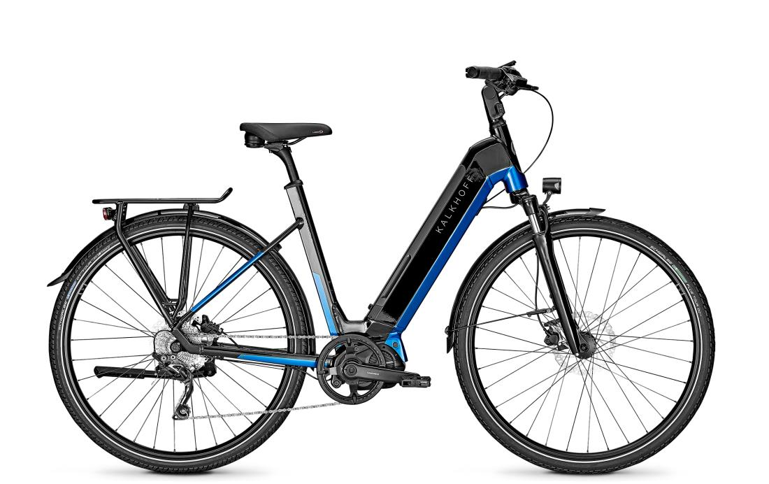 Kalkhoff ENDEAVOUR 5.S ADVANCE - 28 Wave 540 Wh -  magicblack/pacificblue glossy 2019
