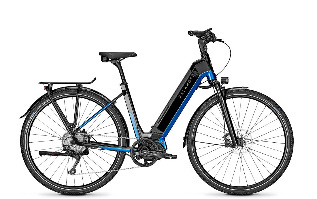Kalkhoff ENDEAVOUR 5.S EXCITE - 28 Wave 540 Wh -  magicblack/pacificblue glossy 2019