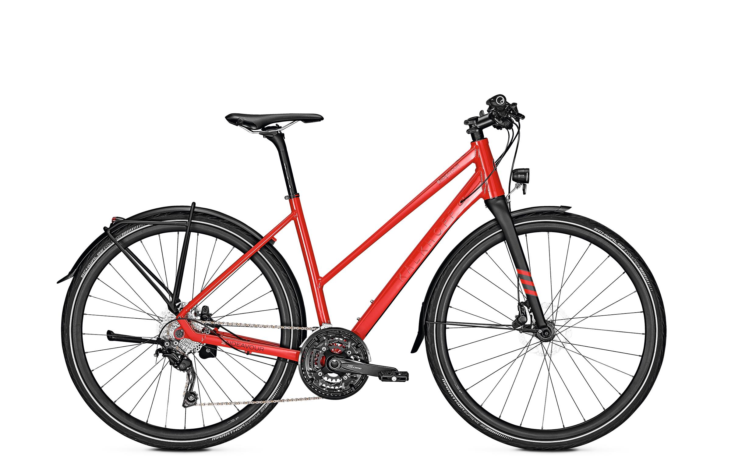Kalkhoff ENDEAVOUR LITE 30 - 28 Trapez  Wh -  firered glossy 2019