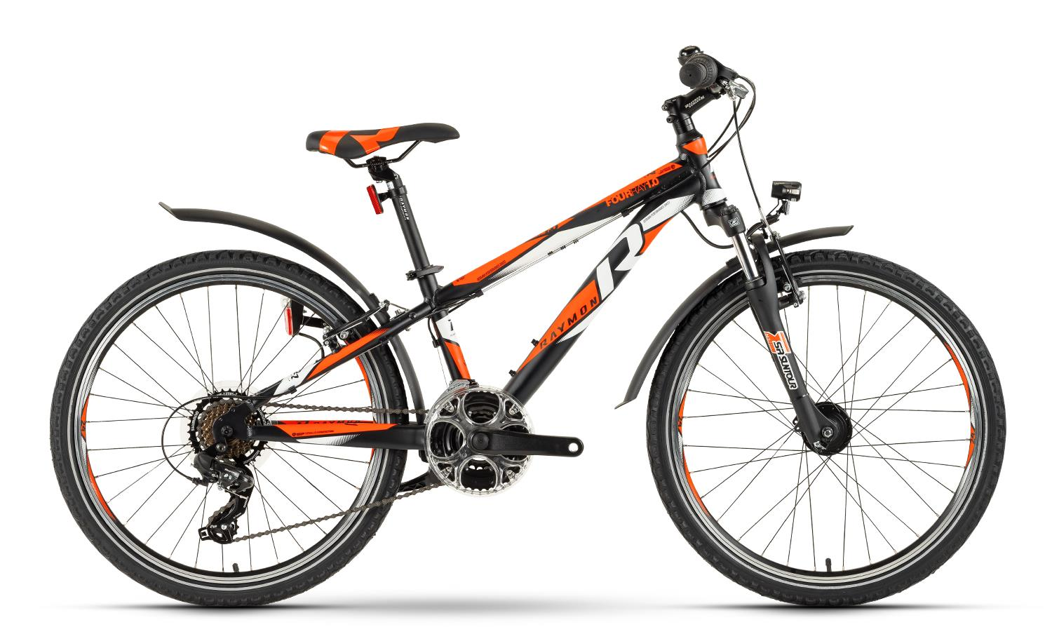 Raymon Fourray 1.0 Street - Jugendrad 24 -  black/orange/white 2019