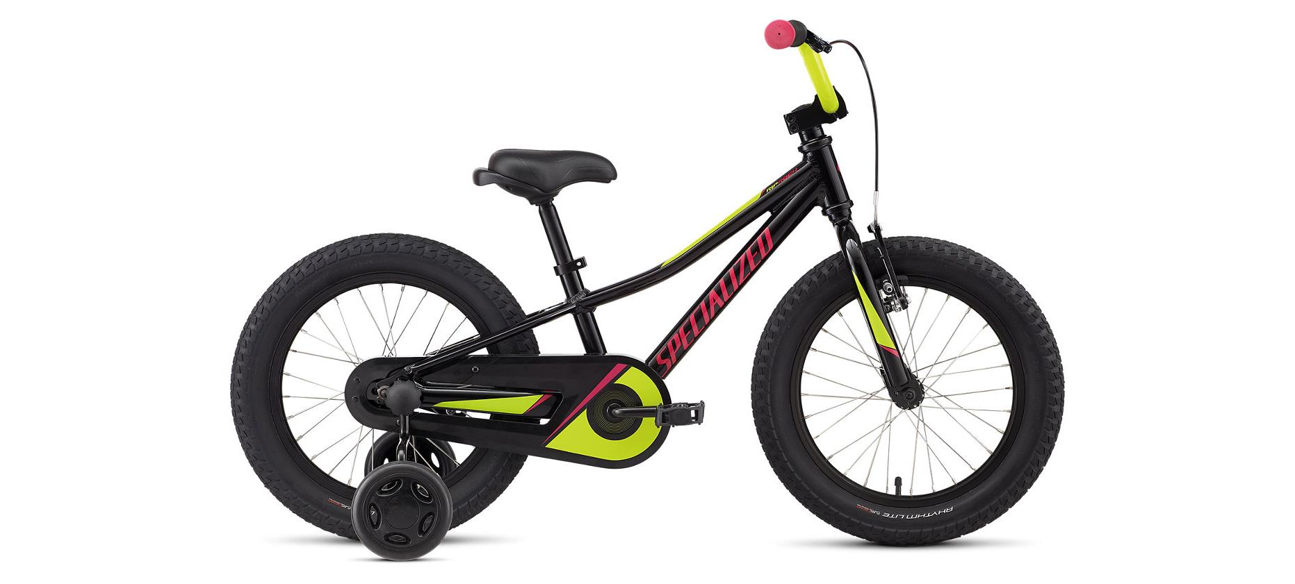 Specialized Riprock Coaster 16 Black Gold Pearl / Pearl Hyper Green / Pink 2020 - 16 -  16