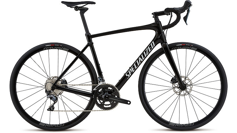 Specialized Roubaix Comp - Gloss Tarmac Black/White Reflective Clean 56