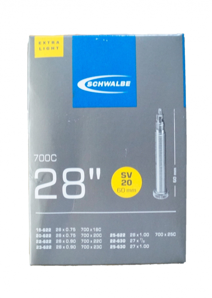 Schwalbe Schlauch SV20 extra lang (18/25-622/630) - 28 Zoll Auswahl